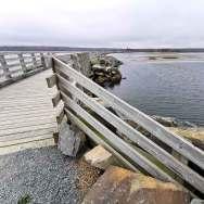Pier and boardwalk at the Salt Marsh Trail hiking near Halifax