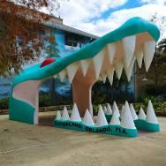 Enter Gatorland in Orlando through a giant Alligator Head