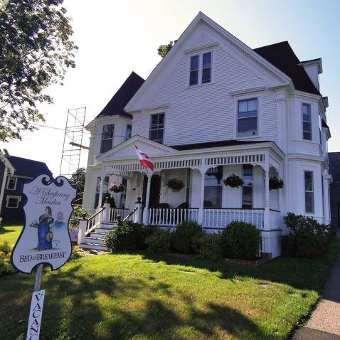 Roguetrippers stayed at Seafaring Maiden Bed and Breakfast in Annapolis Royal Nova Scotia