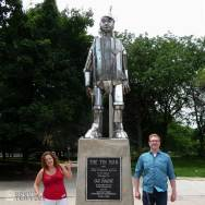 The Tin Woodman from Wizard of Oz in Chicago