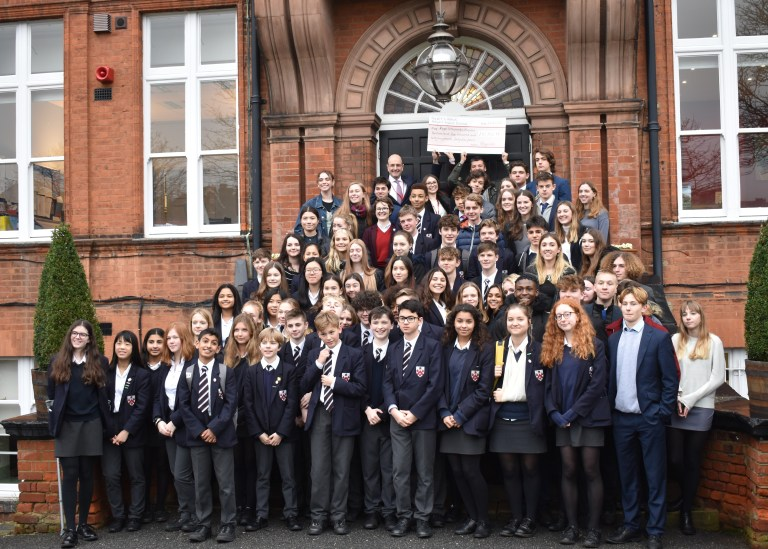 Alleyn's school raised over £10,000 towards this appeal