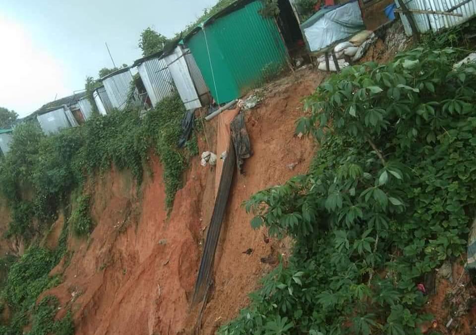 Rohingya Camp Monsoon update: 15 landslides, 14,801 homeless