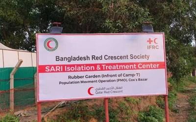 BDRCS starts 2 field hospitals for Rohingya refugees