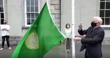 The Rohingya flag was raised at Carlow College to commemorate Rohingya Genocide day