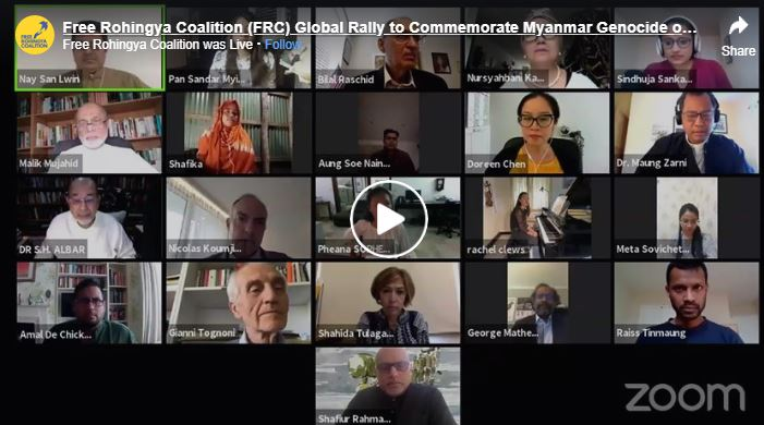 Live – FREE ROHINGYA COALITION (FRC) – GLOBAL RALLY TO COMMEMORATE MYANMAR GENOCIDE OF 2017