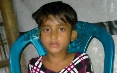 6 year old Azia Begum found