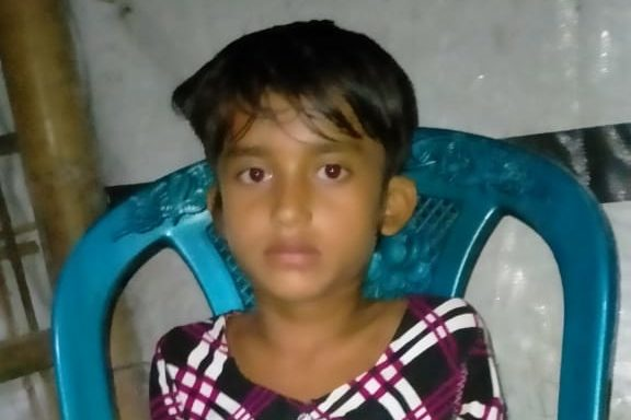 6 year old Azia Begum found