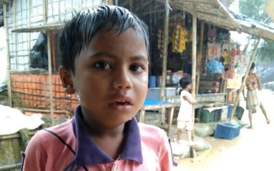 A young child was found in Kutupalong camp A, B13