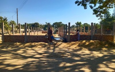 The sudden halt of construction work in the Rohingya refugee camp creates tension