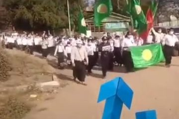 Misinformation regarding usage of Rohingya flag in the protest rally against 2021 Myanmar military coup