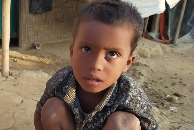A young child was found in Balukhali camp 18 missing