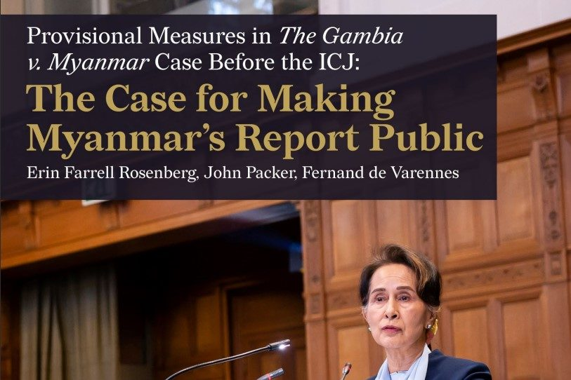 The Case for Making Myanmar's Report Public