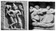 Secular architectural styles..Leftside is hindu deity & Right is Islamic style