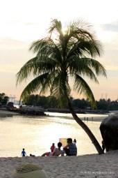 Friends While watching Sunset at Siloso beach,Sentosa