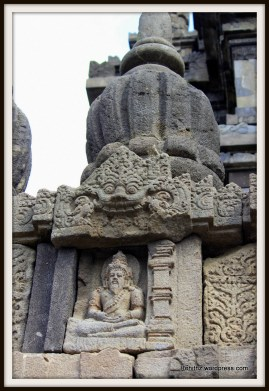 The temple walls are adorned with the Brahma sages
