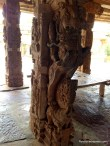 One of the pillar with a Yali(a (mythical creature) being rided by a warrior on the top of an elephant..