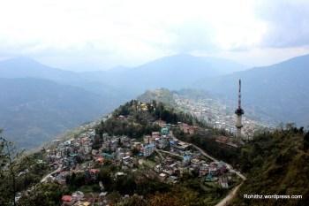 Gangtok city overview