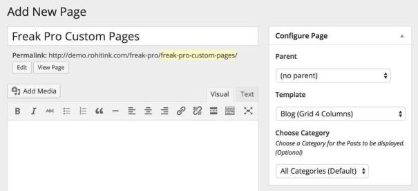 custom pages