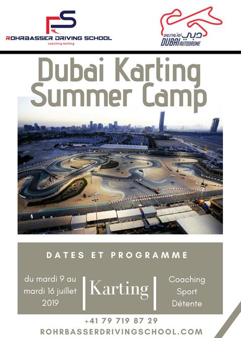 Camps de karting à Dubai été 2019