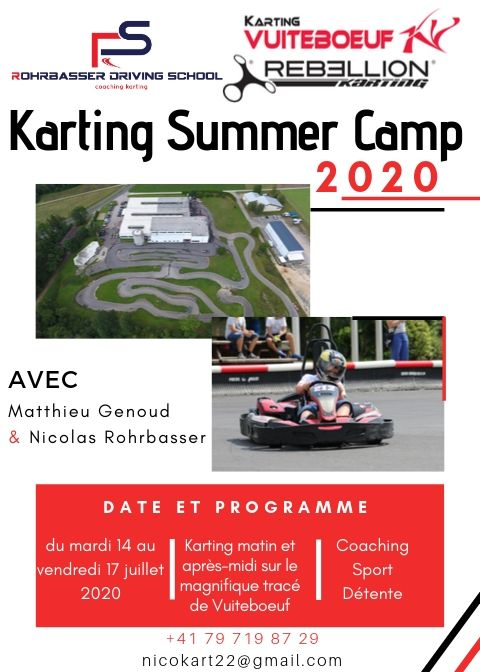 Camp de karting été 2020 au karting vuiteboeuf