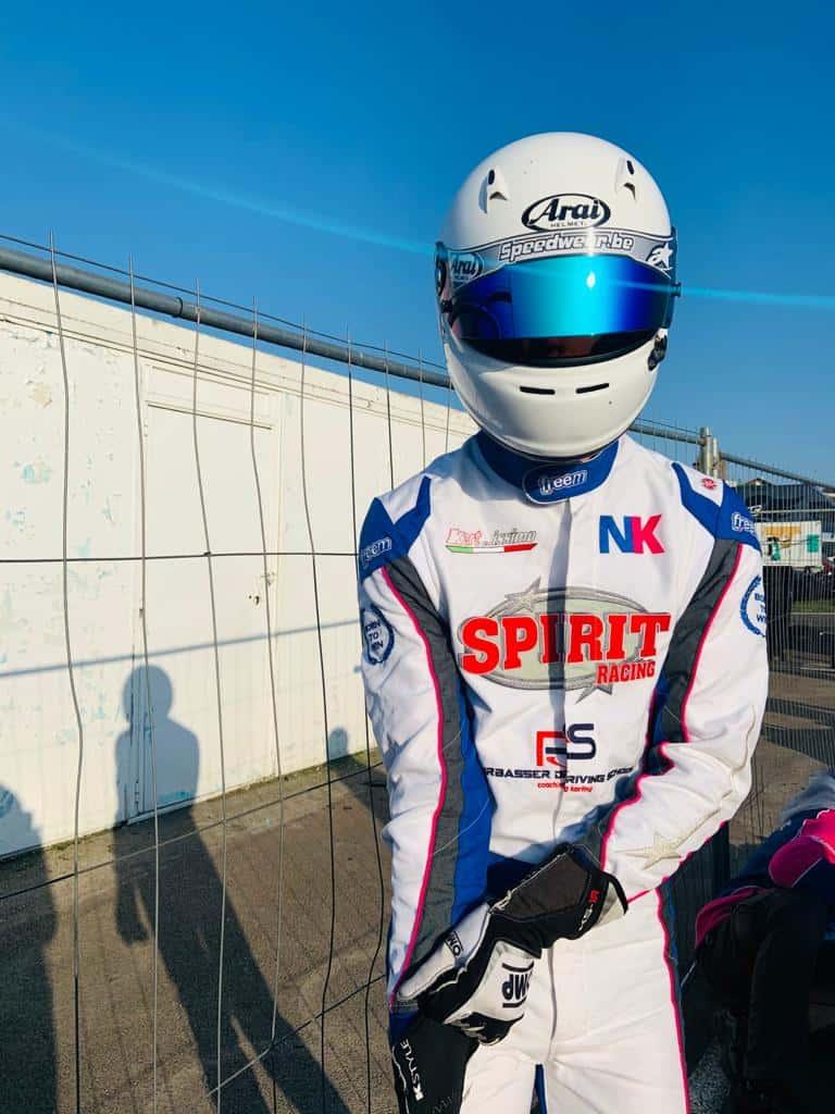 Nicolas Rohrbasser au karting de Vesoul juste avant les qualifications