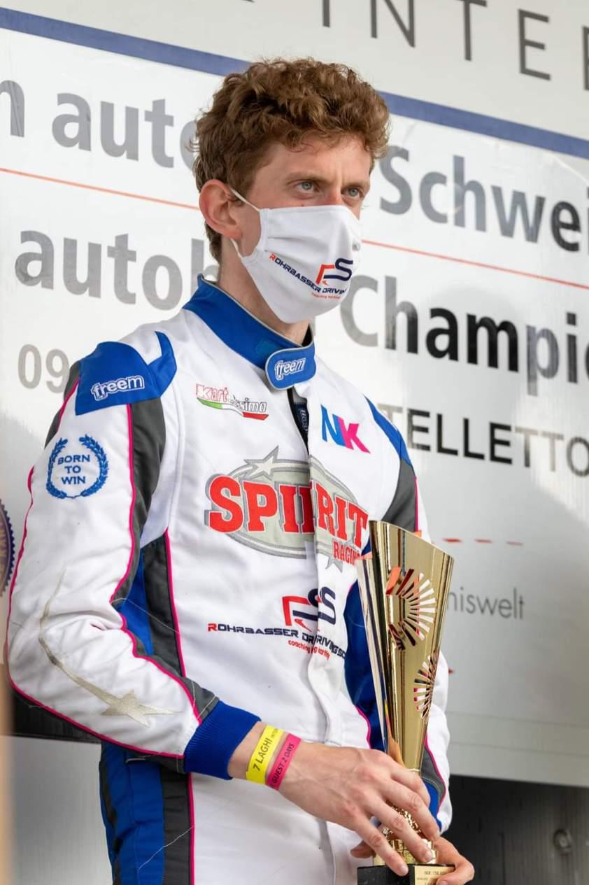 Nicolas rohrbasser champion suisse karting kz2021