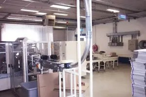 Pneumatic tube systems in the production