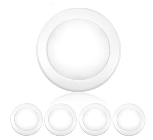 Worbest 4 Inch Dimmable LED Disk Light Flush Mount Ceiling