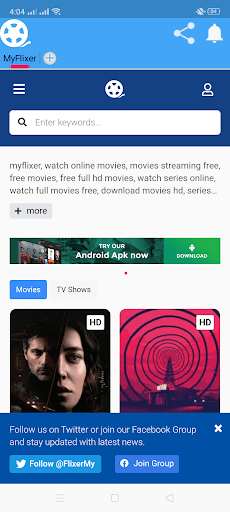 ScreenShot of MyFlixer App