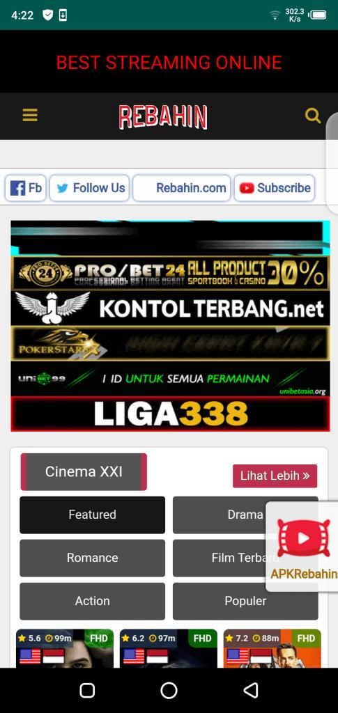 Preuzmite Rebahin Apk Besplatno za Android IndoXXI | RoidHub