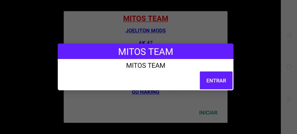Screenshot of Mitos Team
