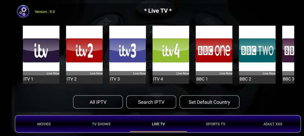 Screenshot of Strix IPTV