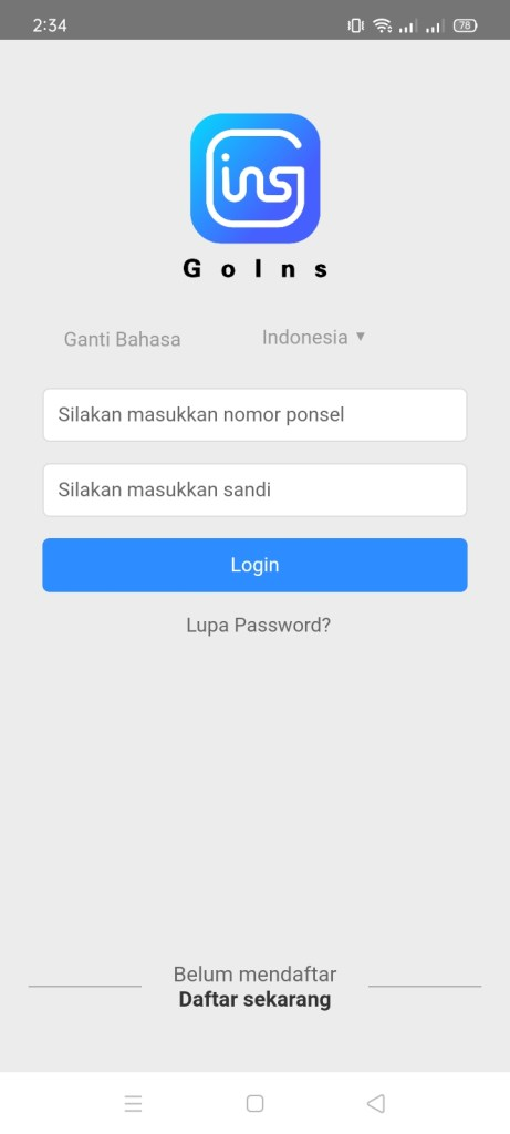 Screenshot of GoIns Apk