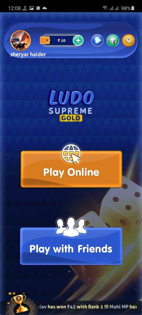 Screenshot of Ludo Supreme Apk