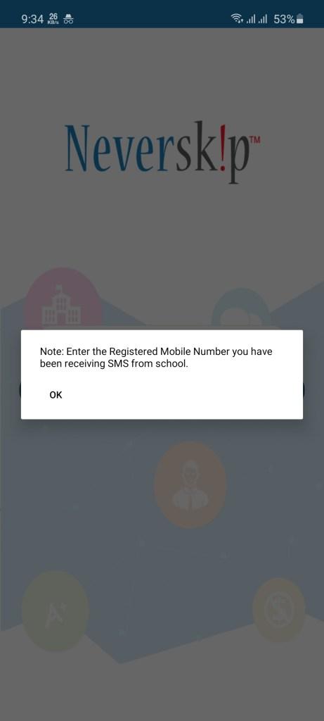 Screenshot of NeverSkip Parent Portal Apk