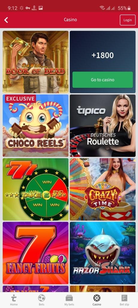 Screenshot of Tipico Apk Download
