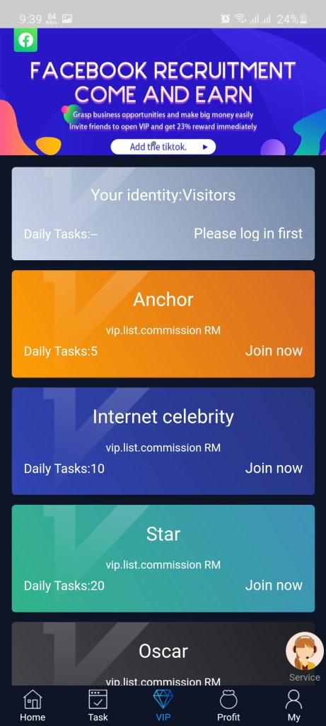 Screenshot of Like Share Apk
