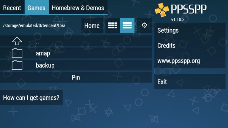 Screenshot of Golden PSP App