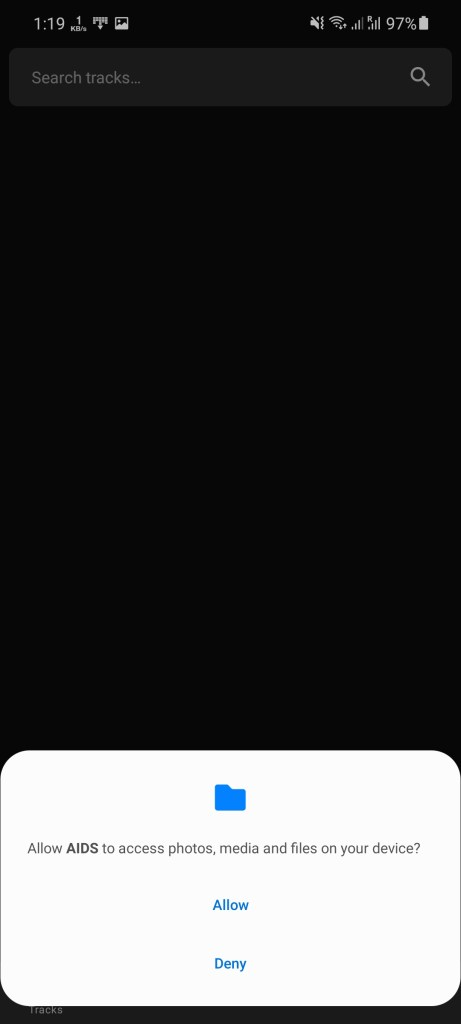 Screenshot of Aids App