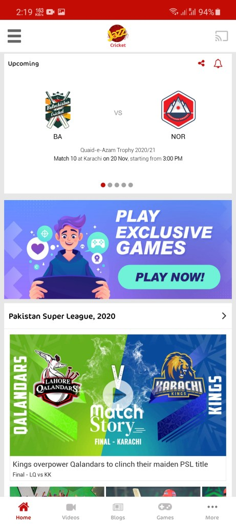 Screenshot of Jazz Cricket Apk