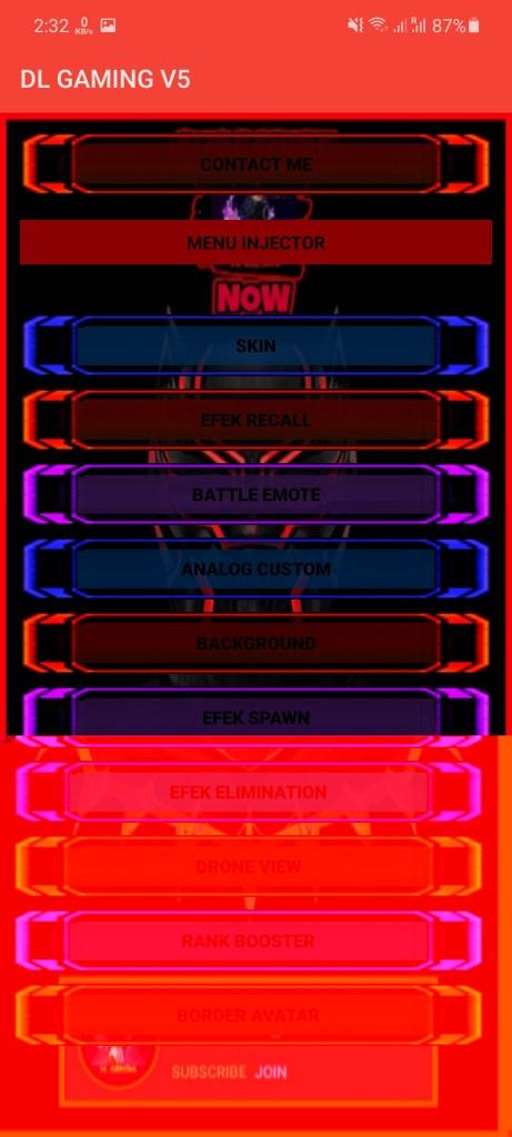 Screenshot of DL Gaming App
