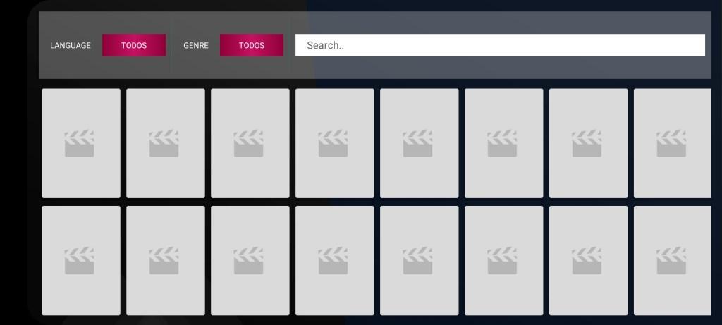 Screenshot of EAI TV App