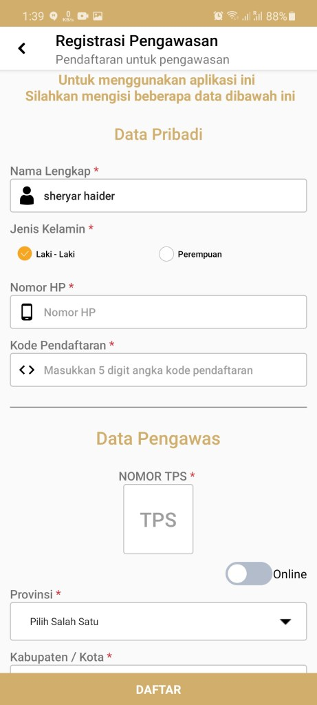 Screenshot of Siwaslu 2020 For Android