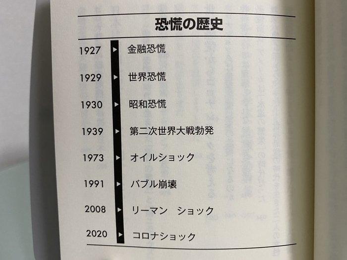 恐慌の歴史年表