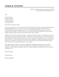 Cover Letter Example 6