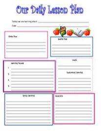 Daily Lesson Plan Template 5