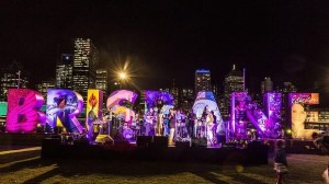 Sculpture of Brisbane in colours