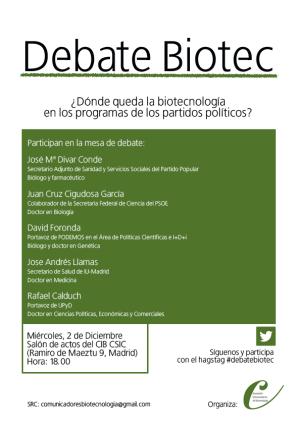 Participantes Debate biotecnología