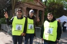 Miembros de la vigilia permantente por la Libertad de Abdulllah Öcalan