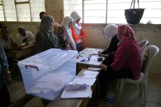 Mesa electoral de las elecciones comunales de Rojava